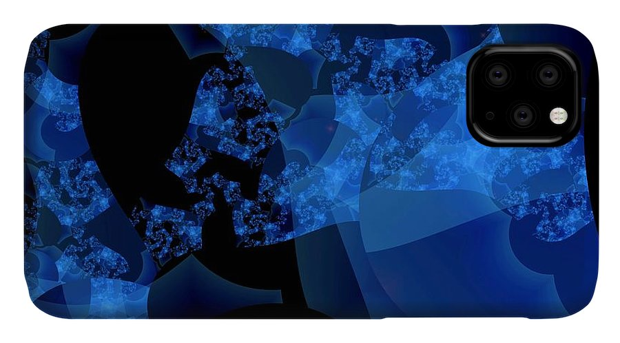 Fractal Art IPhone Case featuring the digital art Bioluminescence by Ron Bissett