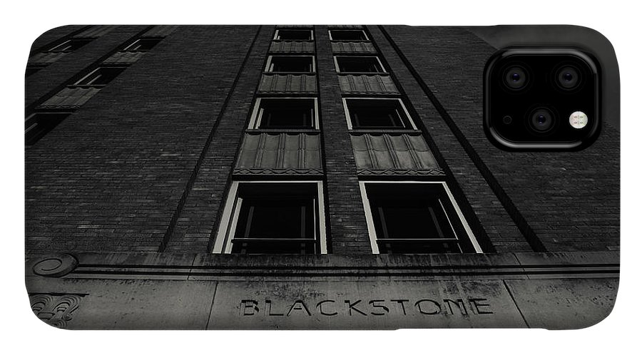 Tyler Texas City IPhone Case featuring the photograph Blackstone Building Downtown Tyler Bnw by Eugene Campbell