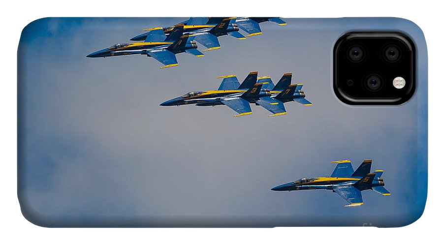 America IPhone 11 Case featuring the photograph Blue Angels by Inge Johnsson