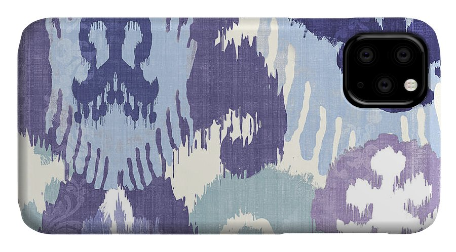 Ikat IPhone Case featuring the painting Blue Curry I by Mindy Sommers