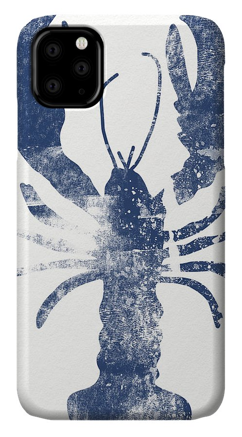 Cape Cod IPhone Case featuring the painting Blue Lobster- Art By Linda Woods by Linda Woods