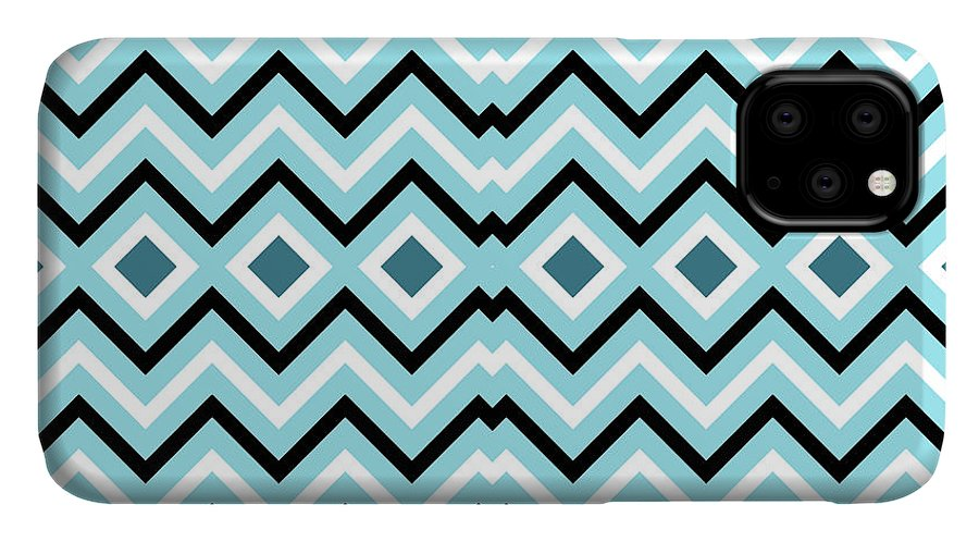 Pattern IPhone Case featuring the digital art Blue Navy by Latex Color Design