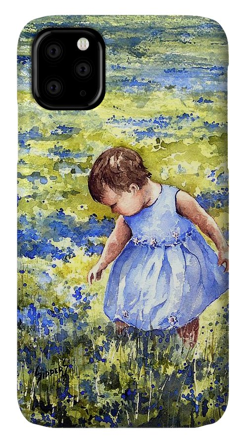 Blue IPhone Case featuring the painting Blue by Sam Sidders