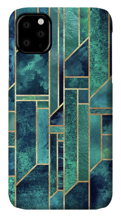 Graphic IPhone Case featuring the digital art Blue Skies by Elisabeth Fredriksson