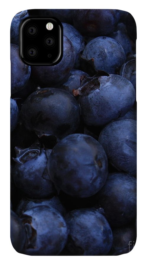 Blueberries IPhone 11 Case featuring the photograph Blueberries Close-up - Vertical by Carol Groenen