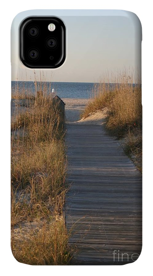 Boardwalk IPhone Case featuring the photograph Boardwalk To The Beach by Nadine Rippelmeyer