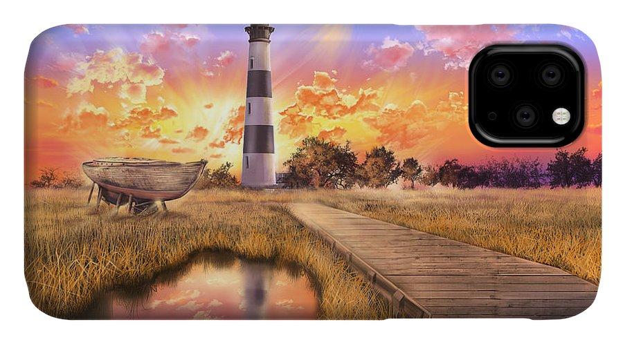 Lighthouse IPhone Case featuring the photograph Bodie Island Lighthouse by Bekim M