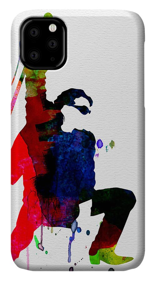 Bono IPhone Case featuring the painting Bono Watercolor by Naxart Studio