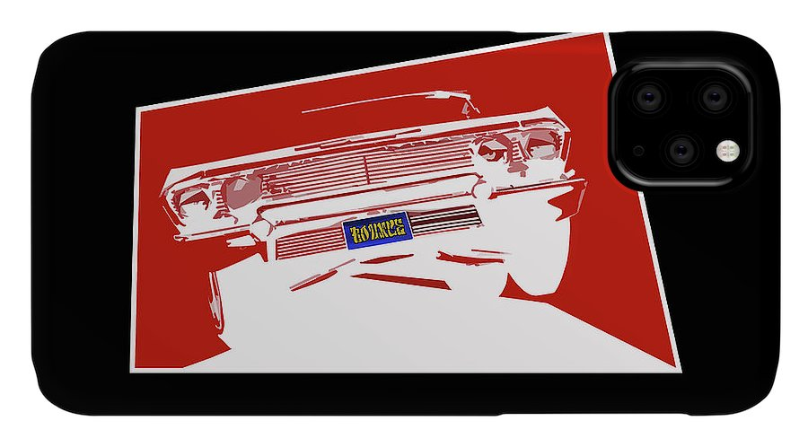 Lowrider IPhone Case featuring the digital art Bounce. '63 Impala lowrider. by Colin Tresadern