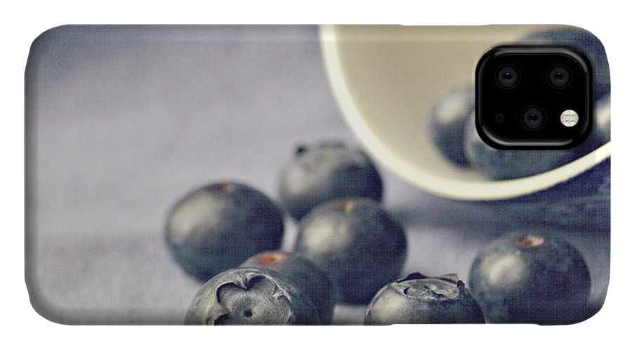 Blueberries IPhone Case featuring the photograph Bowl Of Blueberries by Lyn Randle
