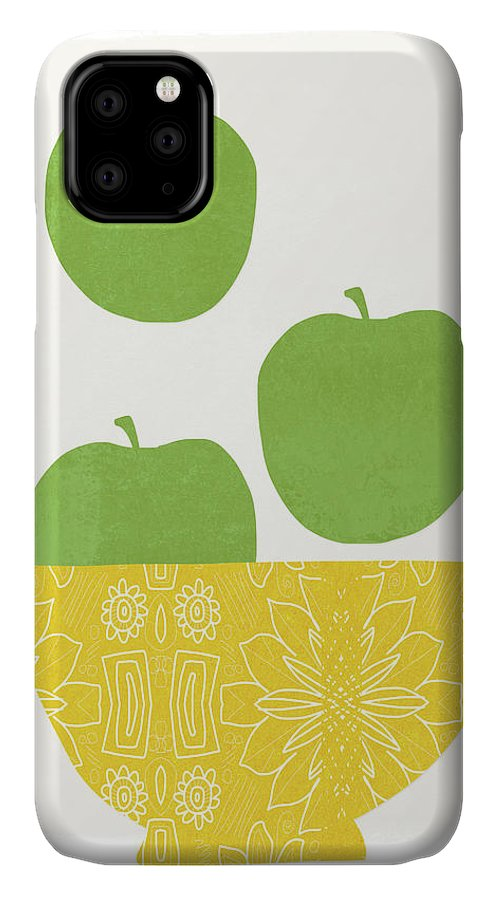 Apples IPhone Case featuring the painting Bowl Of Green Apples- Art By Linda Woods by Linda Woods