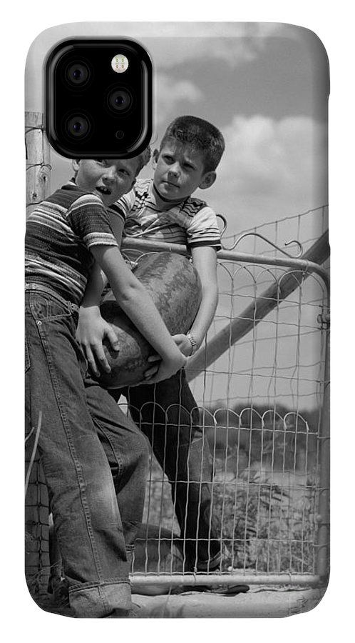 1950s IPhone Case featuring the photograph Boys Stealing A Watermelon, C.1950s by H Armstrong Roberts and ClassicStock