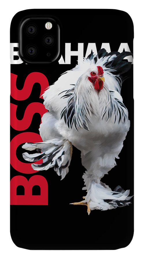 Brahma IPhone 11 Case featuring the digital art Brahma Boss T-shirt Print by Sigrid Van Dort