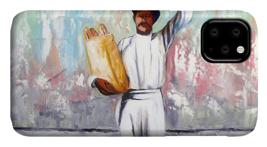 Bread IPhone 11 Case featuring the painting Breadman by Jose Manuel Abraham