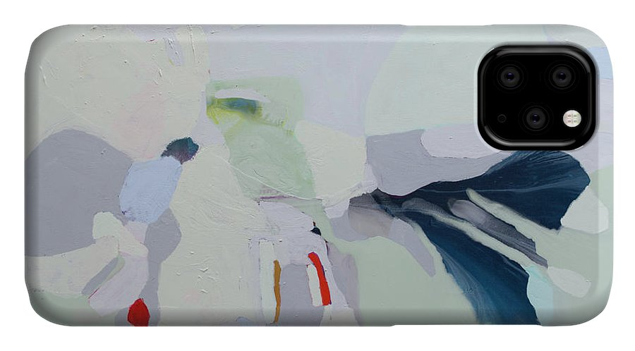 Abstract IPhone 11 Case featuring the painting Breathe by Claire Desjardins