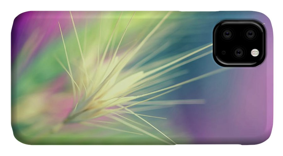 Bright Colors IPhone Case featuring the digital art Bright Weed by Terry Davis