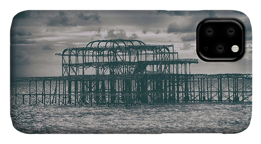 Pier IPhone Case featuring the photograph Brighton's Old Pier by Martin Newman
