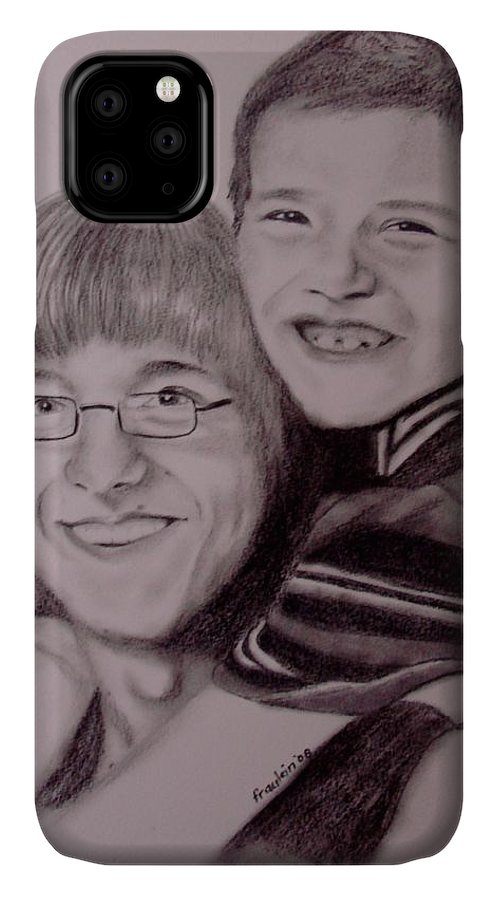 Portrait IPhone Case featuring the drawing Brothers For Life by Glory Fraulein Wolfe