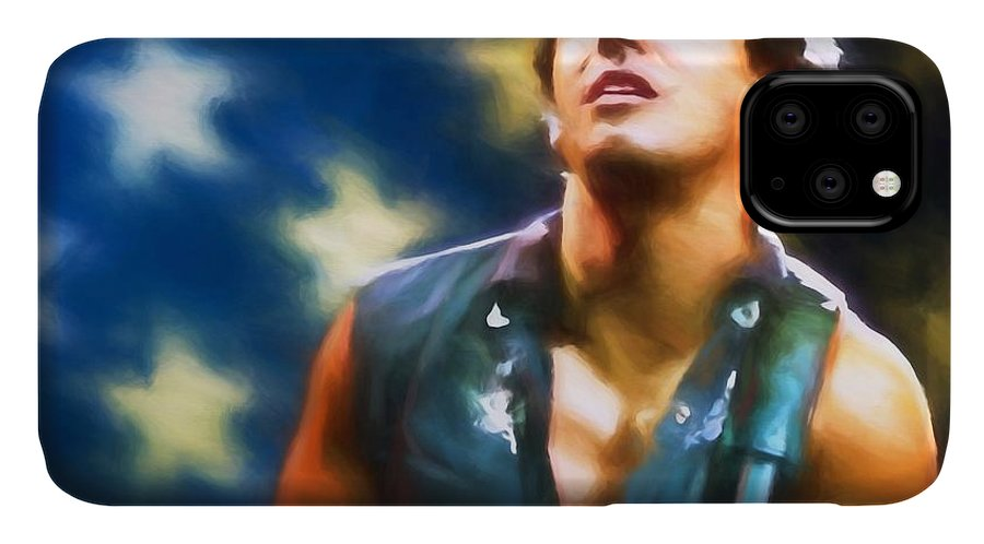 Bruce Springsteen Americana IPhone Case featuring the painting Bruce Springsteen Americana by Dan Sproul