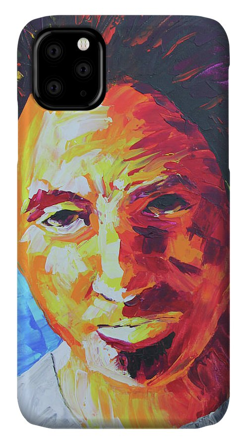 Bruce Springsteen IPhone Case featuring the painting Bruce Springsteen by Robert Kirsch