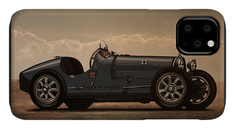 Bugatti Type 35 IPhone Case featuring the mixed media Bugatti Type 35 1924 Mixed Media by Paul Meijering