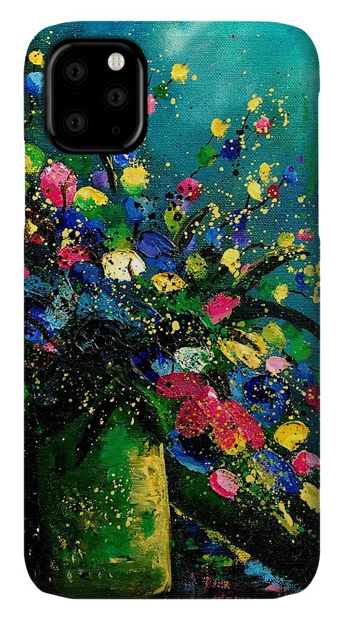 Flowers IPhone 11 Case featuring the painting Bunch 0807 by Pol Ledent