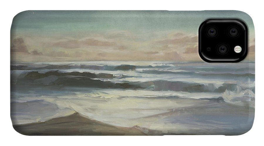 Ocean IPhone Case featuring the painting By Moonlight by Steve Henderson
