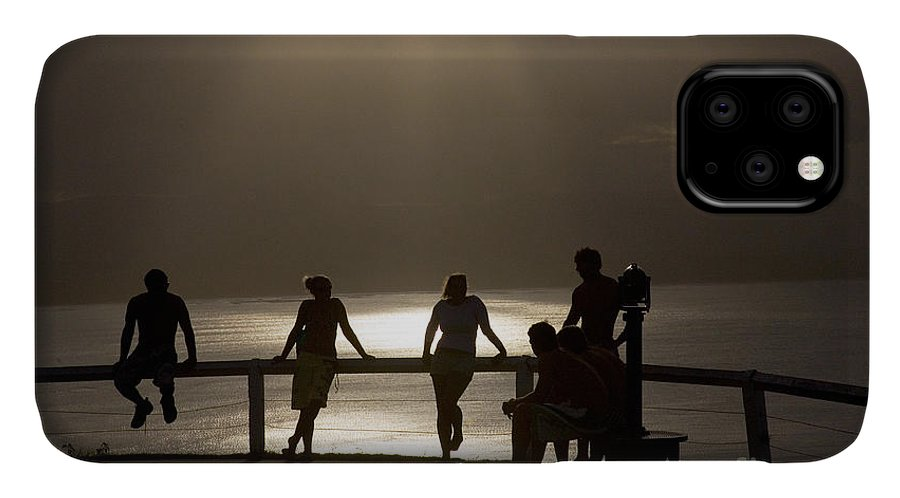 Byron Bay Lighthouse Silhouette Sunset Rays IPhone Case featuring the photograph Byron Bay lighthouse by Sheila Smart Fine Art Photography