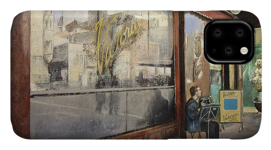 Cafe IPhone Case featuring the painting Cafe Victoria by Tomas Castano