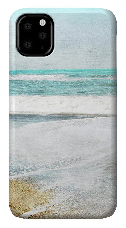 Coast IPhone 11 Case featuring the mixed media Calm Coast- Art By Linda Woods by Linda Woods