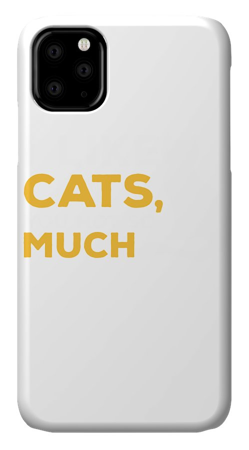 Cat IPhone Case featuring the digital art Cats by Kaylin Watchorn
