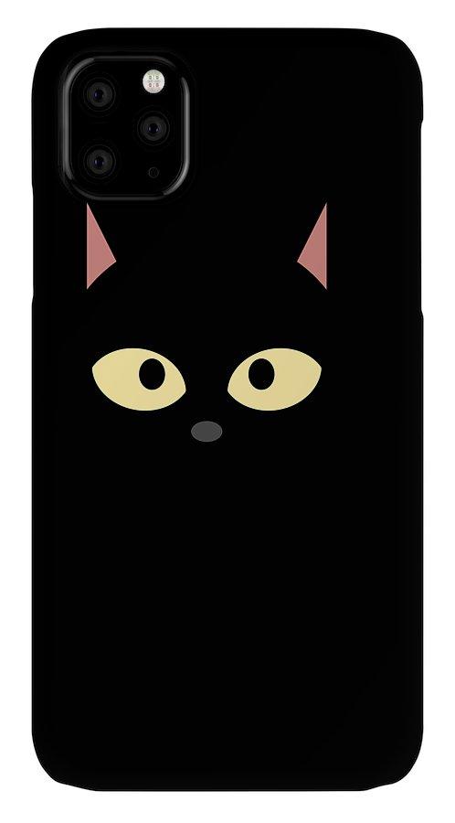 Cat IPhone Case featuring the digital art Catshirt by Kaylin Watchorn