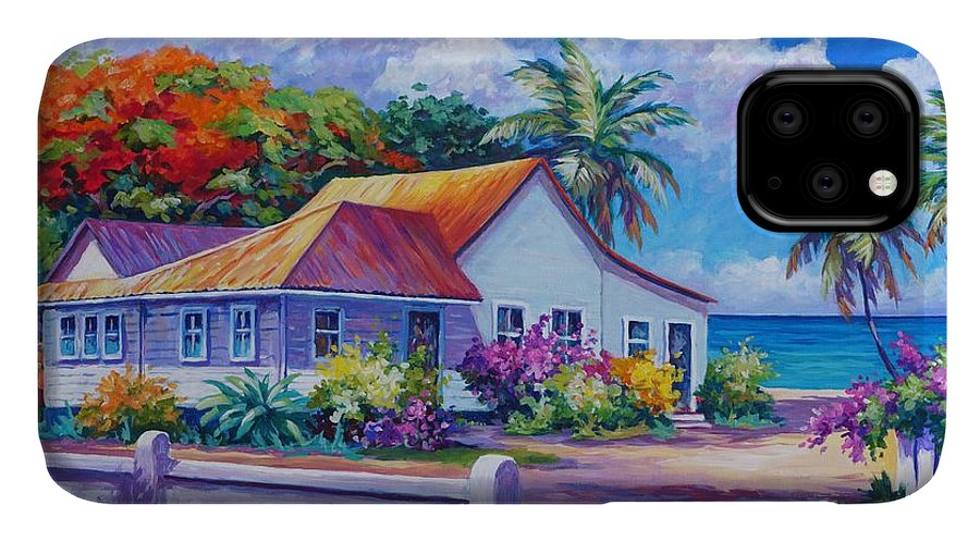 Artwork IPhone Case featuring the painting Cayman Home by John Clark