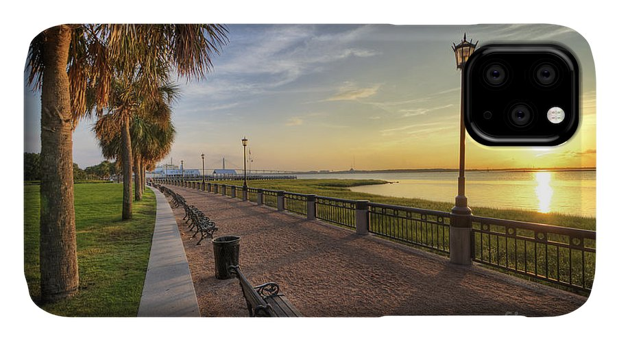 Charleston IPhone 11 Case featuring the photograph Charleston Sc Waterfront Park Sunrise by Dustin K Ryan