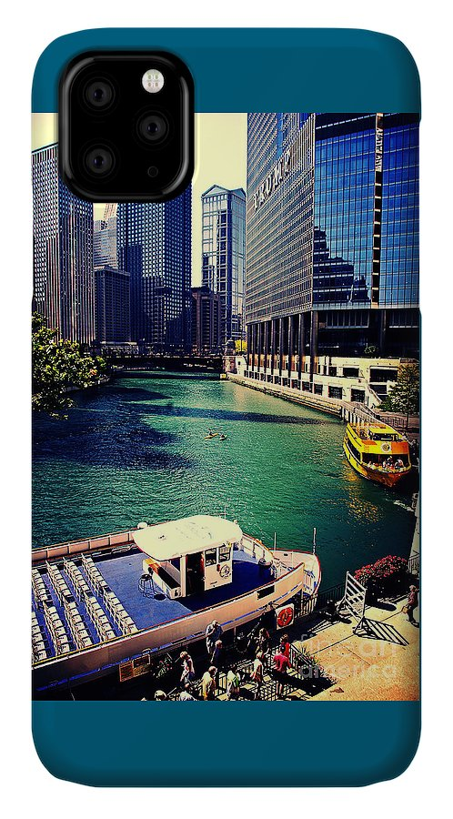 Chicago-cityscape IPhone Case featuring the photograph City Of Chicago - River Tour by Frank J Casella