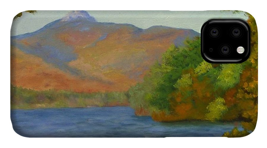 Mount Chocorua And Chocorua Lake IPhone Case featuring the painting Chocorua by Sharon E Allen