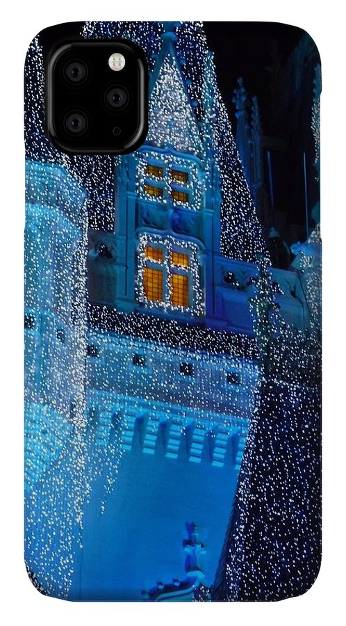 Cinderella IPhone 11 Case featuring the photograph Christmas Castle by Nora Martinez