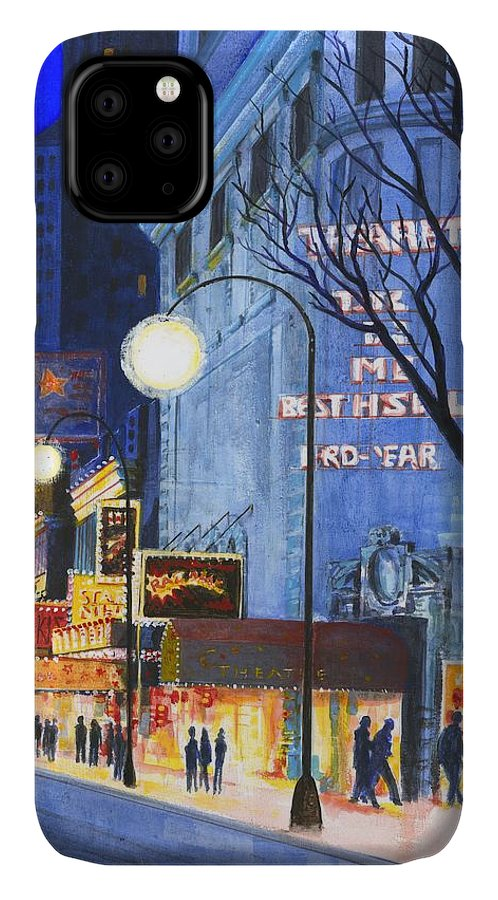 Buildings IPhone Case featuring the photograph City Street At Night by Gillham Studios