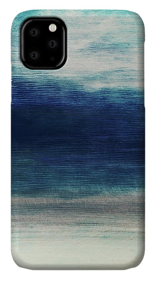 Beach IPhone 11 Case featuring the mixed media Coastal Escape 2- Art By Linda Woods by Linda Woods