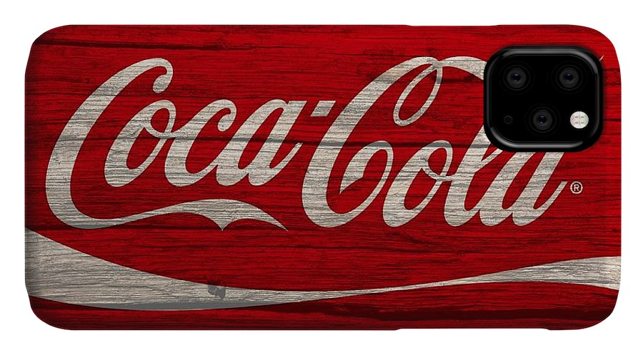 Coca Cola Classic Barn IPhone 11 Case featuring the photograph Coca Cola Worn Wood Sign by Dan Sproul