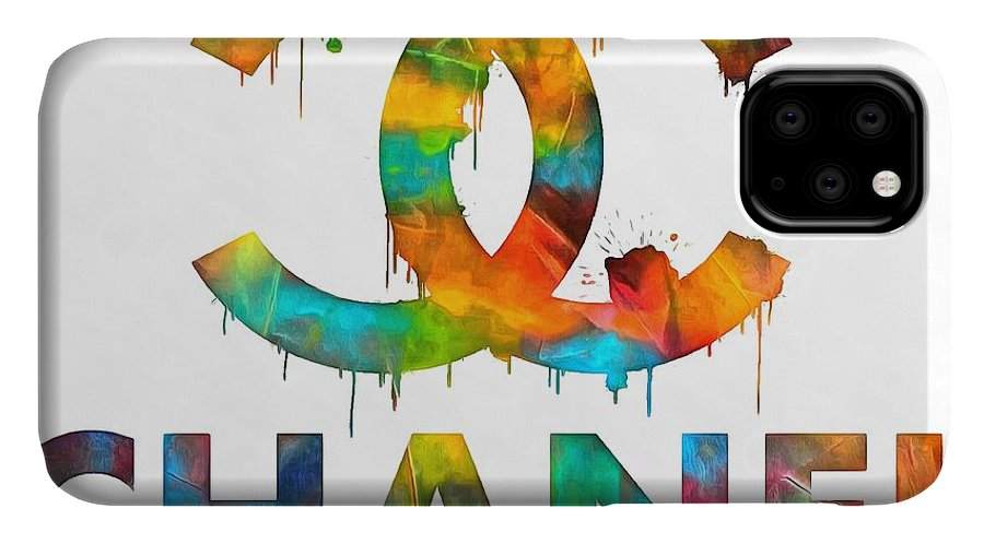 Coco Chanel Paint Splatter Color IPhone Case featuring the painting Coco Chanel Paint Splatter Color by Dan Sproul