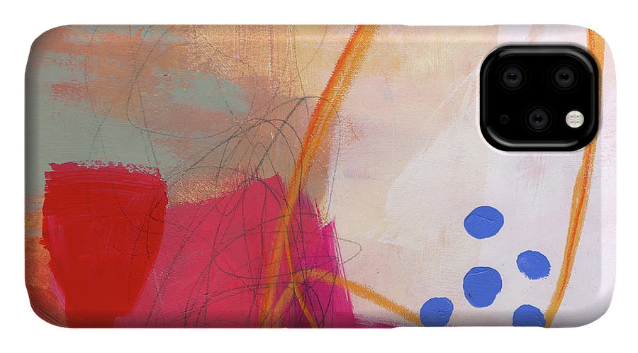 Abstract Art IPhone Case featuring the painting Color, Pattern, Line #2 by Jane Davies