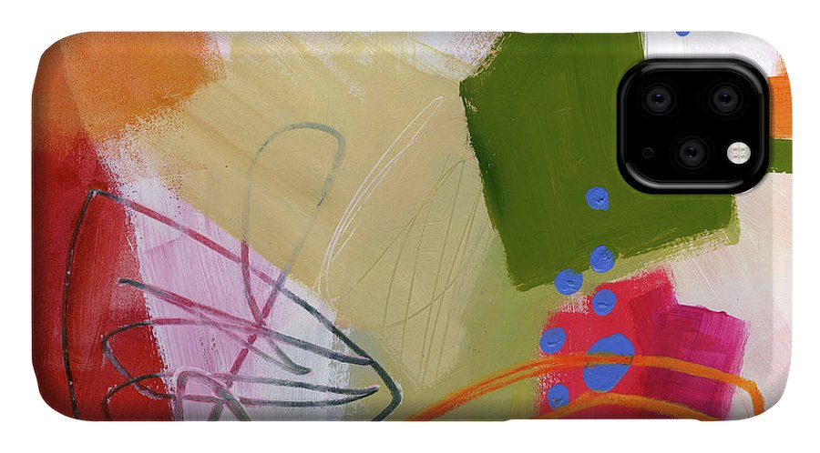 Abstract Art IPhone Case featuring the painting Color, Pattern, Line #4 by Jane Davies