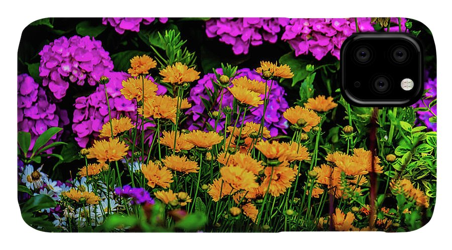 Colorful IPhone Case featuring the photograph Colorful Lush Garden by Garry Gay