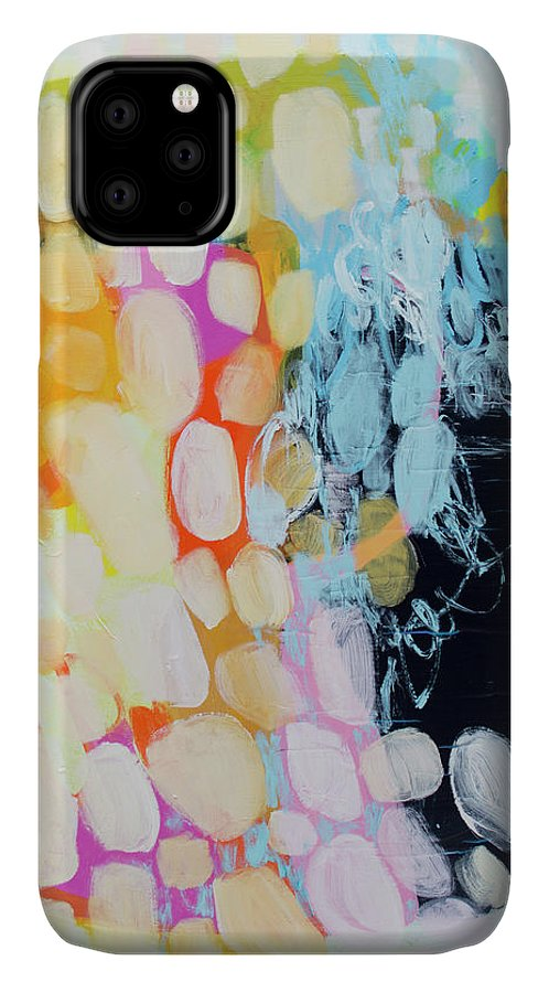 Abstract IPhone 11 Case featuring the painting Come To Bed by Claire Desjardins