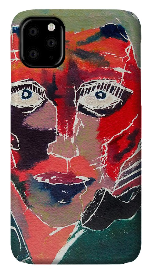 Phone IPhone Case featuring the painting Conversation by David Studwell