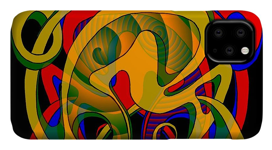 Life IPhone Case featuring the digital art Corresponding independent Lifes by Helmut Rottler