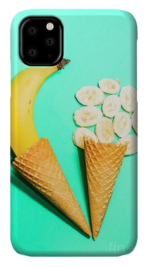 Creative IPhone 11 Case featuring the photograph Creative Banana Ice-cream Still Life Art by Jorgo Photography - Wall Art Gallery