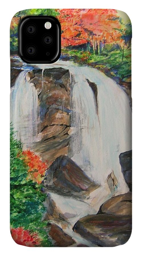 Creek IPhone Case featuring the painting Creek In Autumn by Lizzy Forrester