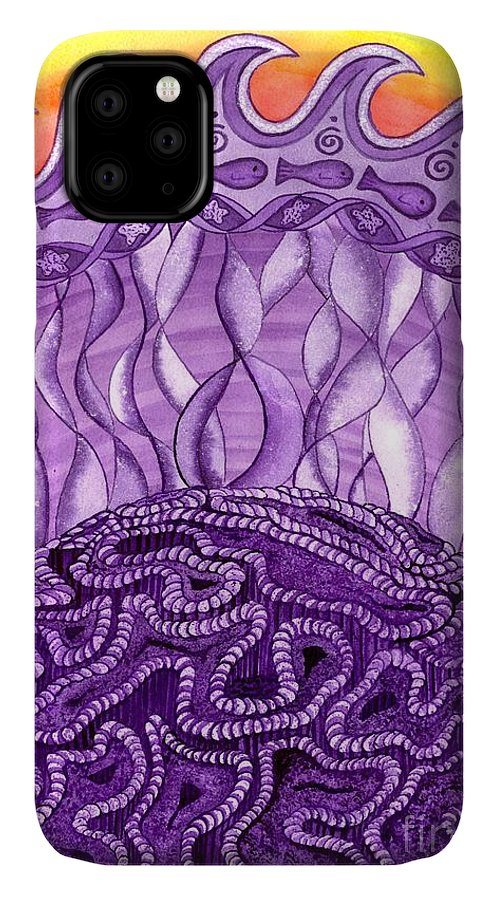 Chakra IPhone Case featuring the painting Crown Chakra by Catherine G McElroy